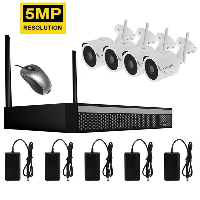 Комплект видеонаблюдения беспроводной Longse WIFI 4-Kit 5 мегапикселей (100056)