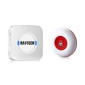 Кнопка вызова медсестры беспроводная Daytech CC01- 150M Белая (100070)