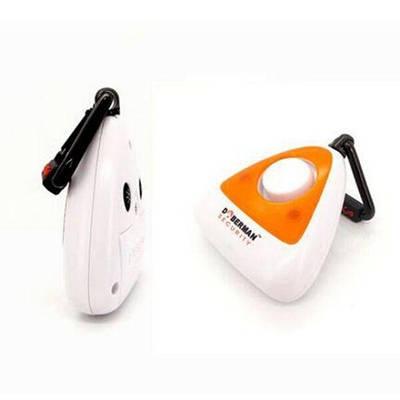 Персональная сигнализация с сиреной 100 дБ брелок Doberman Security SE-0301 со стробоскопом Белый с оранжевым