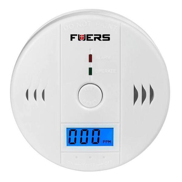 Датчик угарного газа бытовой сигнализатор CO Fuers JKD6021 Белый (100203)