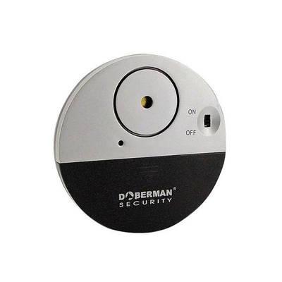 Датчик вибрации сигнализация с сиреной 120dB Doberman Security SE-0106, вибродатчик для окон и дверей