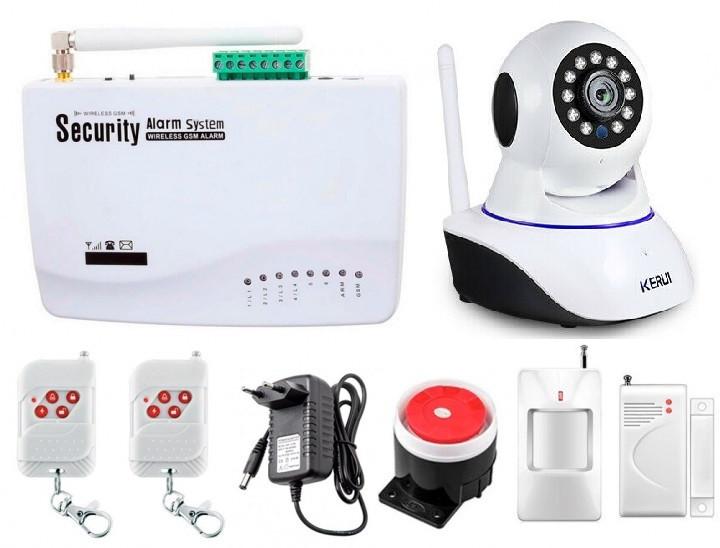 Сигнализация Kerui Security Alarm System G10 + WI-Fi IP камера (GFKKKFLFJHUUF)