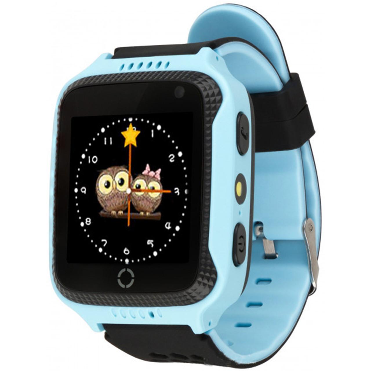Детские смарт-часы UWatch Q529 с GPS трекером Blue (2964-8038)