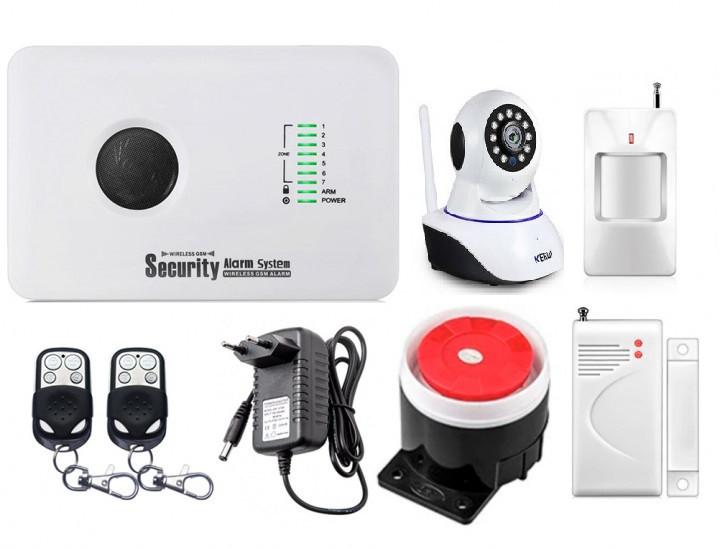 Охоронний комплект сигналізації Alarm System GSM G10C + WI-FI IP-камера (FDHHHDF87DFGH)