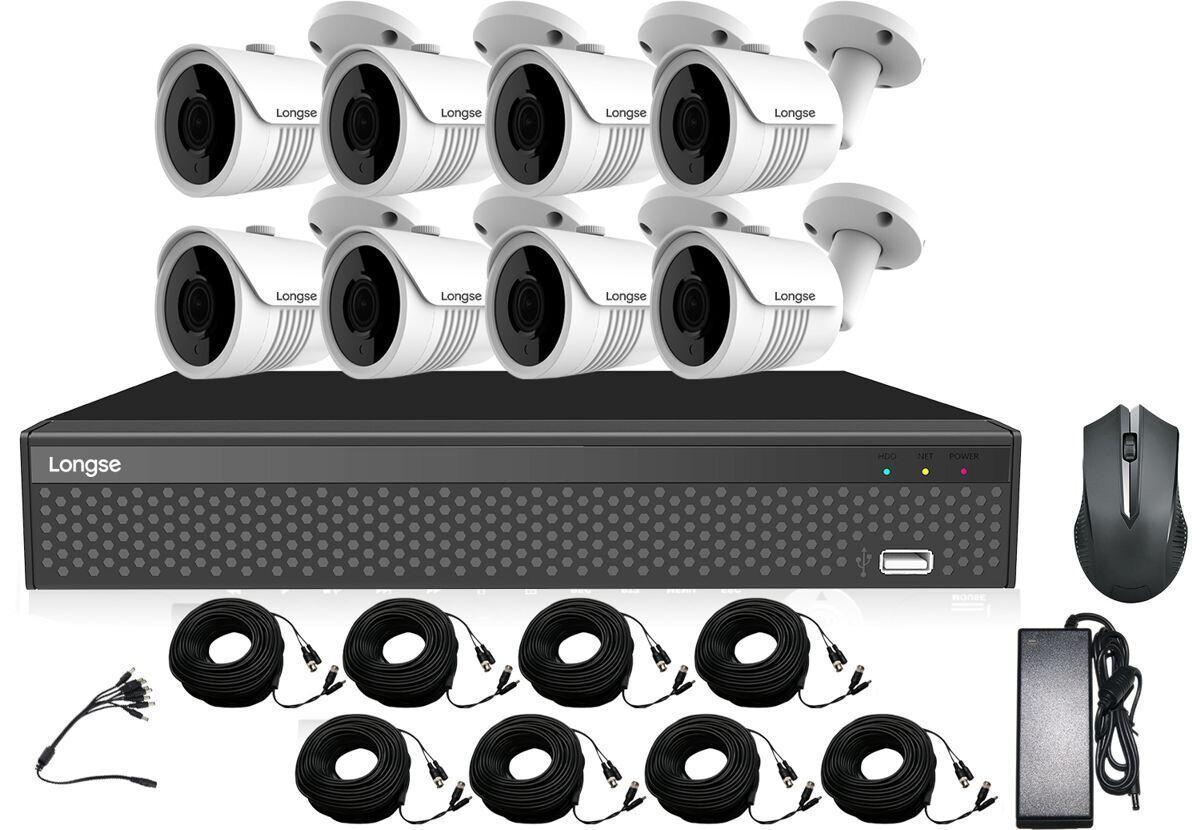 Комплект відеоспостереження 8 камер Longse XVRDA3108D8MB800 (100526)