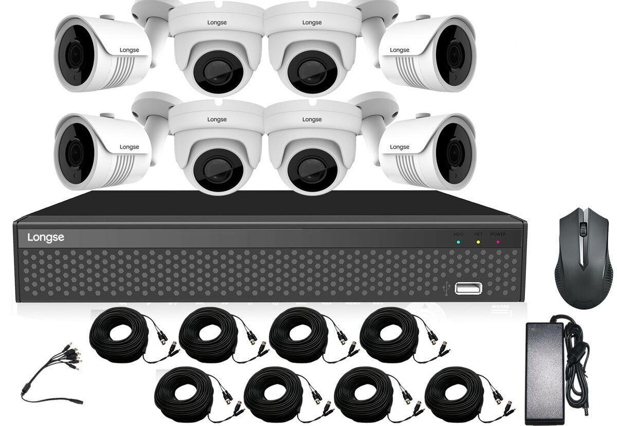 Комплект видеонаблюдения 8 камер Longse XVRDA3108D8MH800 (100524)