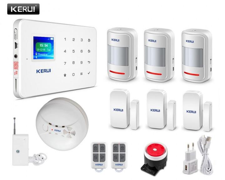 Комплект бездротової GSM сигналізації Kerui G18 Pro-3 (UFHHVBVD789DUDM)