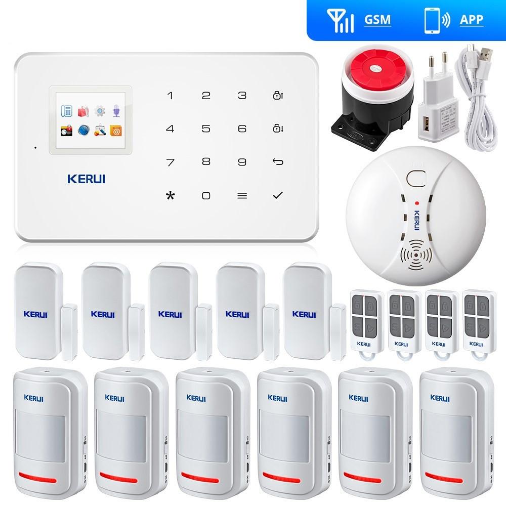 Комплект беспроводной GSM сигнализации Kerui G18 - RF (DFD89D8FD0D0F80)