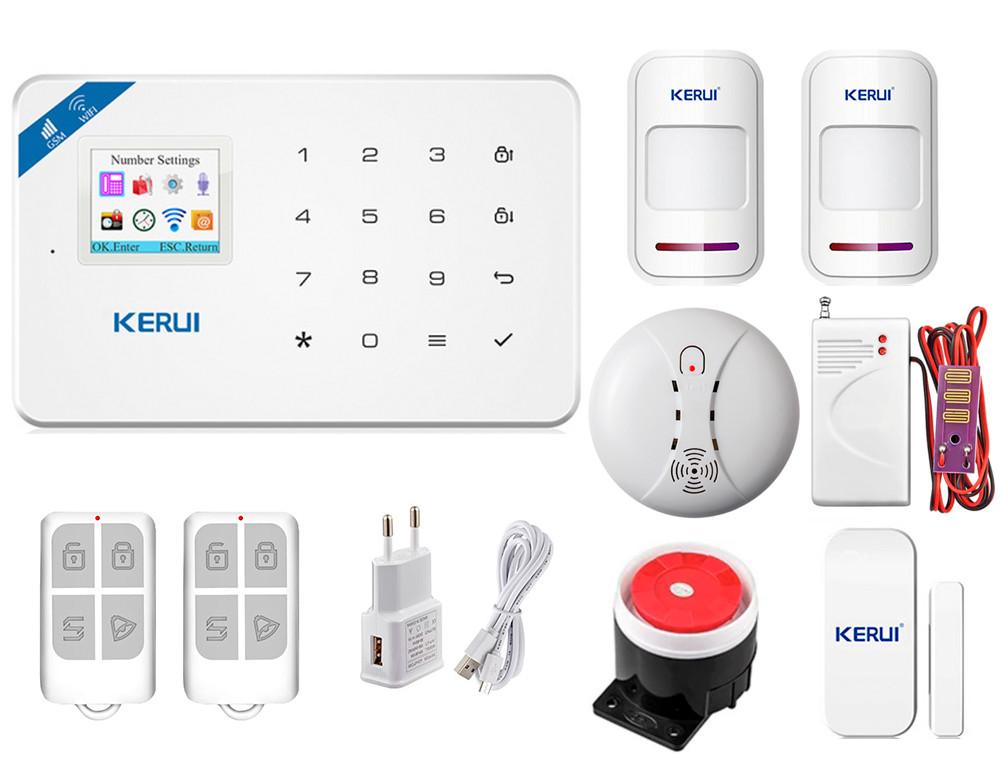 Комплект сигнализации Kerui Wi-Fi W18 Prof для 1-комнатной квартиры (FDJSHS65SGDG5G1)