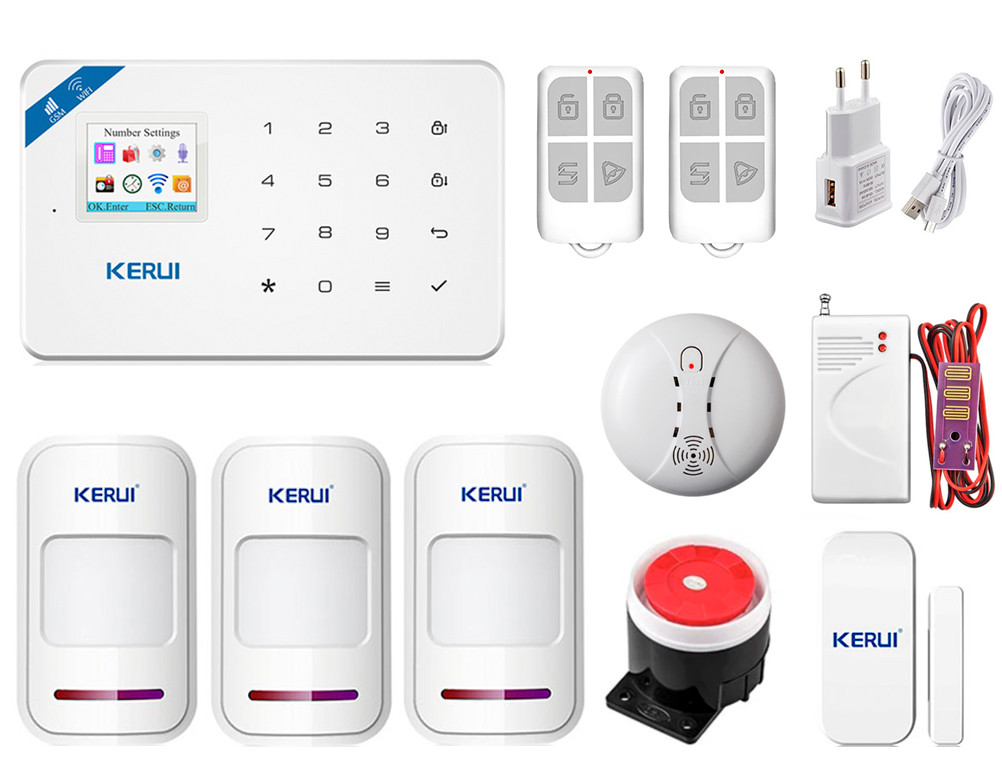 Комплект сигнализации Kerui Wi-Fi W18 Prof для 2-комнатной квартиры (KLSRKFHS6SF5L1)