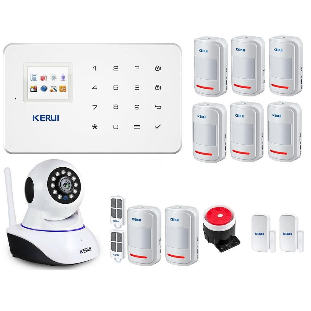 GSM сигнализация Kerui G18 maxvel + внутренняя WI-Fi IP камера (JHFJDH8FJJF)