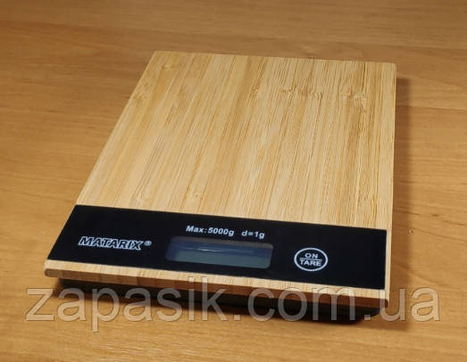 Весы Кухонные Электронные MATARIX MX-406 Wood До 5 Кг LED Дисплей