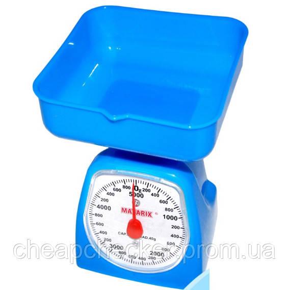 Весы Кухонные Механические С Чашей MATARIX MX-405 5 Кг