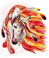 Картина по номерам Огненная лошадь, 40х50 (KPNE-01-07)