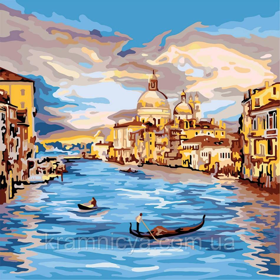 Картина по номерам Вечерняя Венеция, 40х40 (KPNE-02-04)