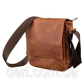 Мессенджер SHVIGEL 11163 из винтажной кожи Рыжий, фото 2
