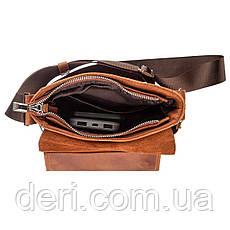Мессенджер SHVIGEL 11163 из винтажной кожи Рыжий, фото 3
