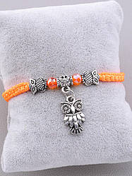 Браслет на руку женский оранжевый Fashion длина 16 см бренд Vogue