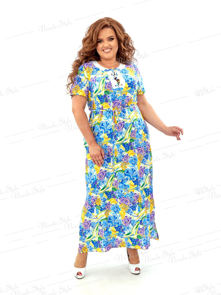 Платье в пол из штапеля 451 54