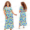 Платье в пол из штапеля 451 54, фото 4