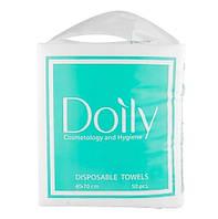 Одноразовые полотенца в пачке COMPACT AQUA Doly 40*70 см (50шт/уп), целлюлоза, 40гр/м2 текст :гладкая