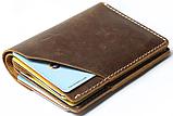 Бумажник матовый Vintage 20064 Коричневый, фото 6