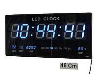 Большие настенные электронные часы LED Digital Clock JH 4622 синие