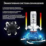 Светодиодные лампы для авто Turbo LED X3 H4, 6500K 50W, ближний/дальний, LED в авто, радиаторное охлаждение, фото 9