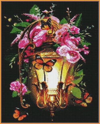 ST225 Фонарь из сказки Набор алмазной вышивки на подрамнике, фото 2