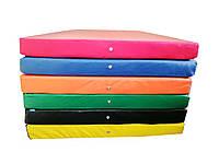 Гимнастический Прямой Мат для спортивных залов или домашних тренировок со съемным чехлом 200х100х10 см