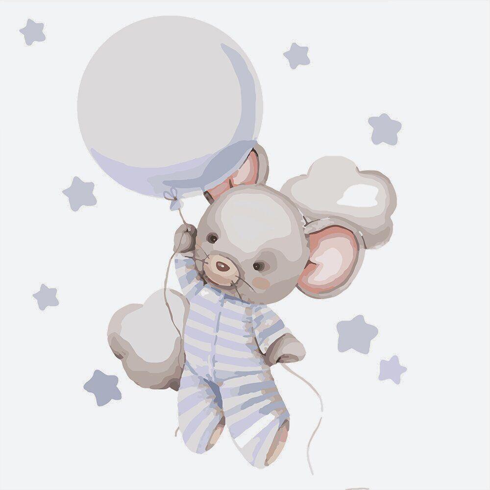 KHO2336 Картина-раскраска Путешествие к звёздам, Без коробки