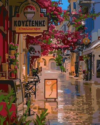 KH3575 Картина-раскраска Улочка в цветах, Без коробки, фото 2
