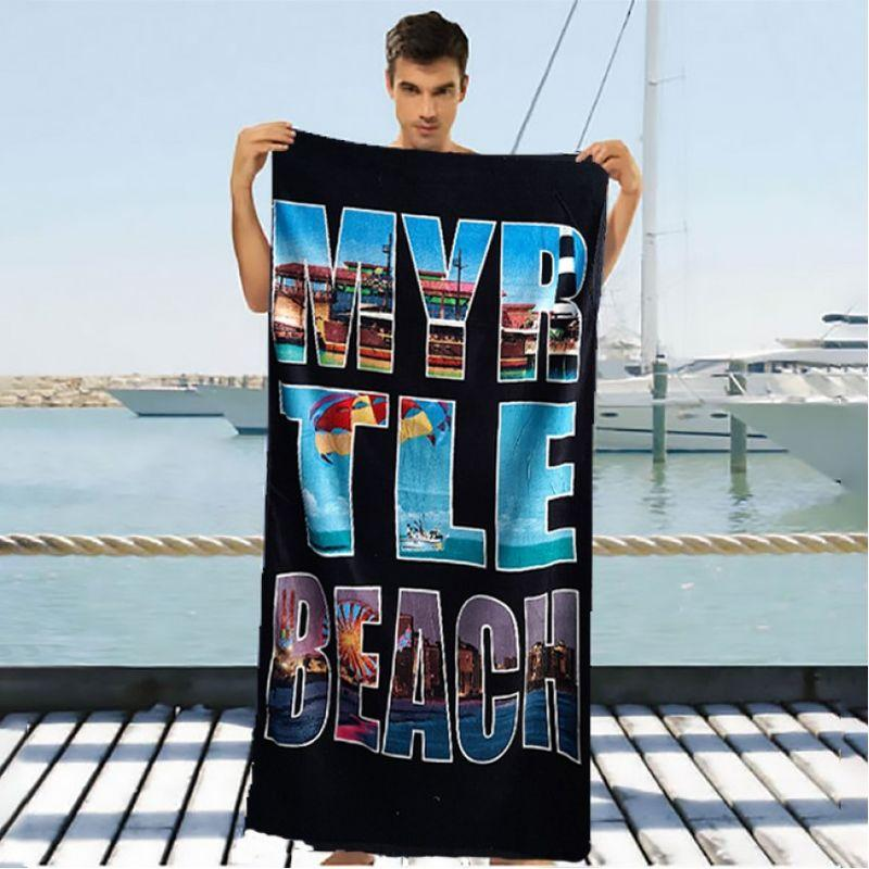 Полотенце для пляжа Shamrock черного цвета