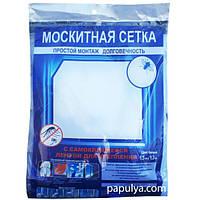 Москитная оконная сетка с самоклеющейся крепежной лентой 1.5 х 1.5 м