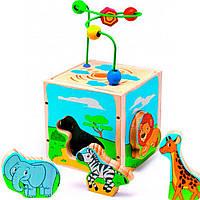 Развивающая игрушка Мир деревянных игрушек Куб Сафари (Д373)
