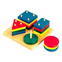 Развивающая игрушка Мир деревянных игрушек Логический квадрат (Д020)