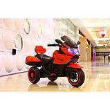 Дитячий триколісний електромотоцикл Tilly T-7224 червоний. Мотоцикл для дітей, фото 2