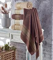 Банное махровое полотенце Упаковка 70*140 Julia Greek 6 шт