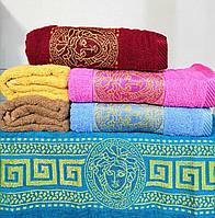 Банное махровое полотенце Упаковка 70*140 Julia Versace 6 шт
