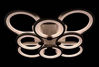 Люстра потолочная LED с пультом A2477/4+4-wh Белый 11х54х67 см., фото 3