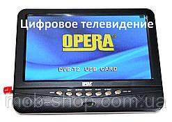 """Автомобільний портативний телевізор 9,5"""" з цифровим телебаченням Т2 Opera 901 USB"""