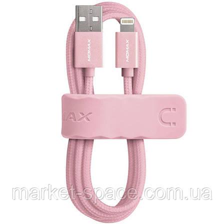Кабель Momax для зарядки iPhone DDMMFILFPL2. Розовый. Длина: 1 метр, фото 2