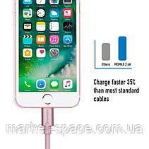 Кабель Momax для зарядки iPhone DDMMFILFPL2. Розовый. Длина: 1 метр, фото 3