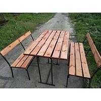 Стол 145х80 см + 2 Лавки 145х40 см (разборной комплект садовой мебели)