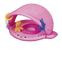Надувной круг /Надувная лодочка Bestway , с трусиками, с навесом, 94 см, розовая