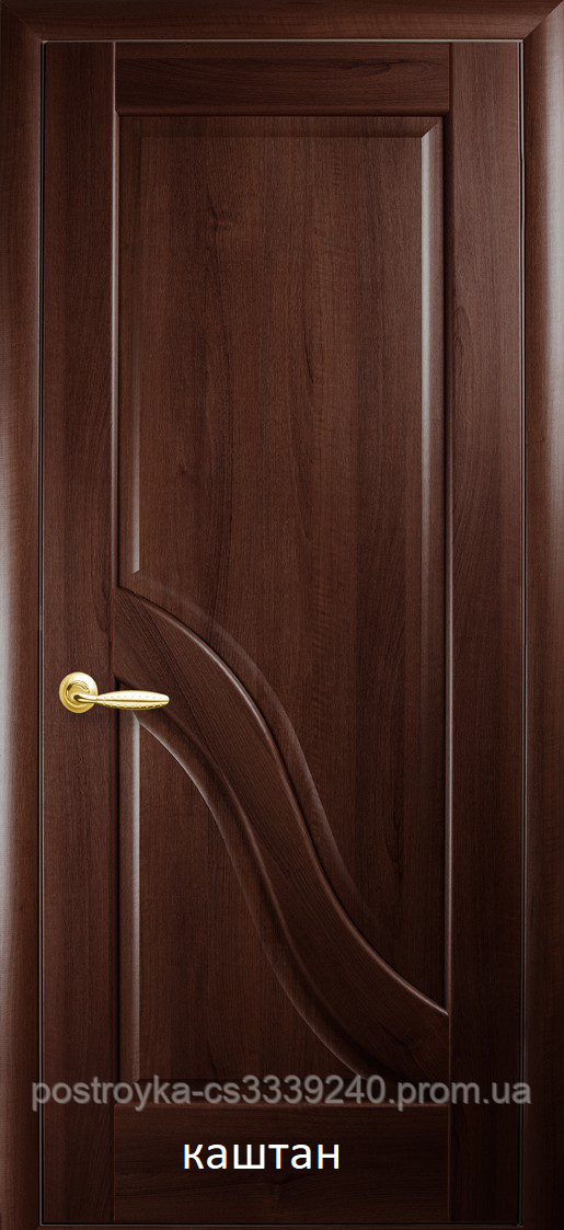 Двери межкомнатные Маэстра Амата Новый Стиль ПВХ глухие 60, 70, 80, 90