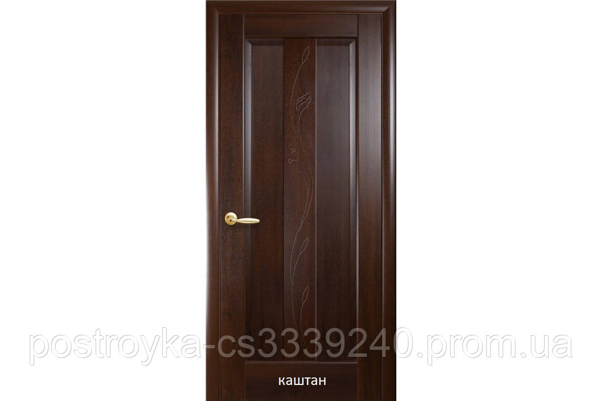 Двери межкомнатные Маэстра Премьера Новый Стиль ПВХ глухие с гравировкой 60, 70, 80, 90