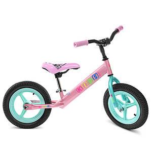 """Беговел детский велобег Profi Kids M 3846A-2 колеса 12"""" для девочки"""