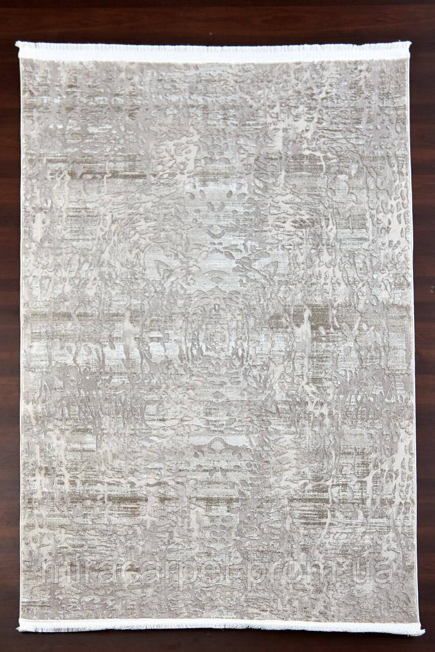Бежевый прямоугольный ковер, абстракция