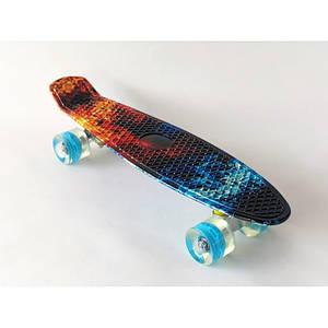 Пенни борд Penny Board скейт детский 12 мультицветов городской транспорт